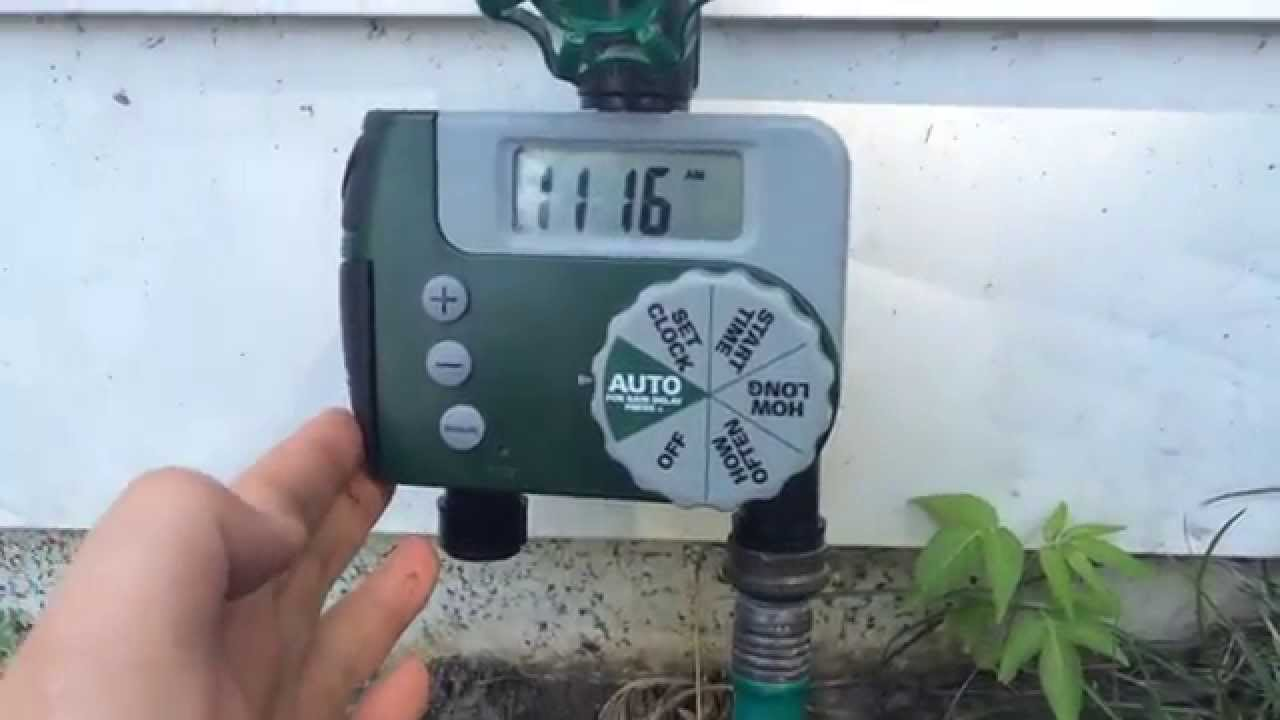 40 dollar Automatic Digital Watering Timer - YouTube