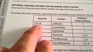 APBA Basic Game Fielding Calculations Example