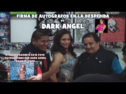 Брюнетка Angel Dark в черном белье, сосет и трахает секс