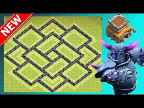 EPIC Th8 Base! (War, Trophy & Hybrid) | The Silver Flame | Clash Of Clans (CoC)