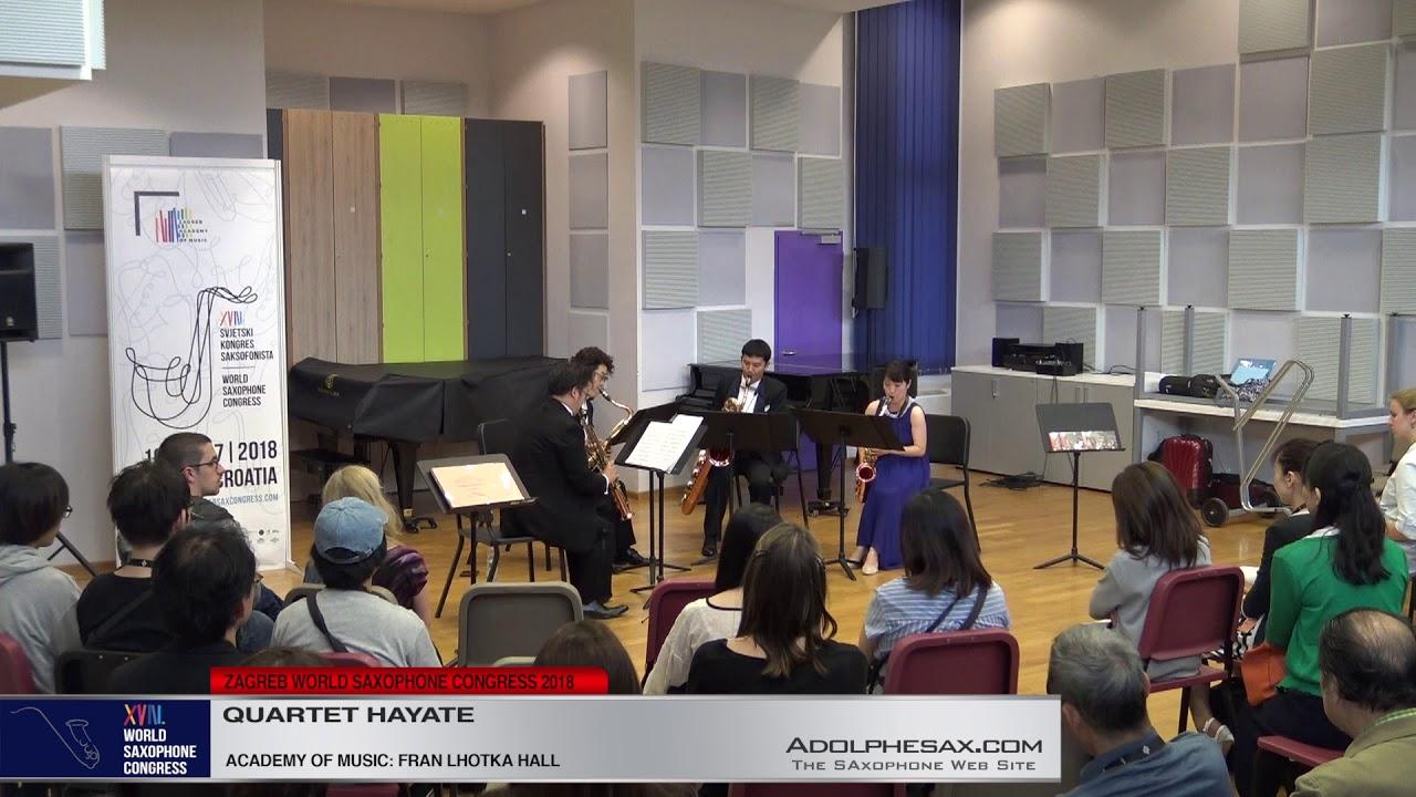 Sonatine Nº2 by Itaru Sakai    Hayate Quartet   XVIII World Sax Congress 2018 #adolphesax