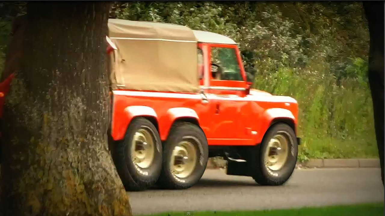 Six Wheel Drive Land Rover Defender. Very Rare - YouTube