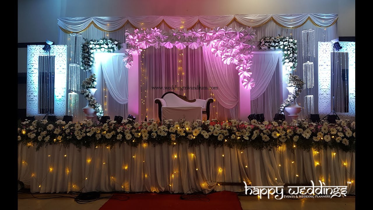 Reception Wedding Stage Decoration In Trivandrum At Sri