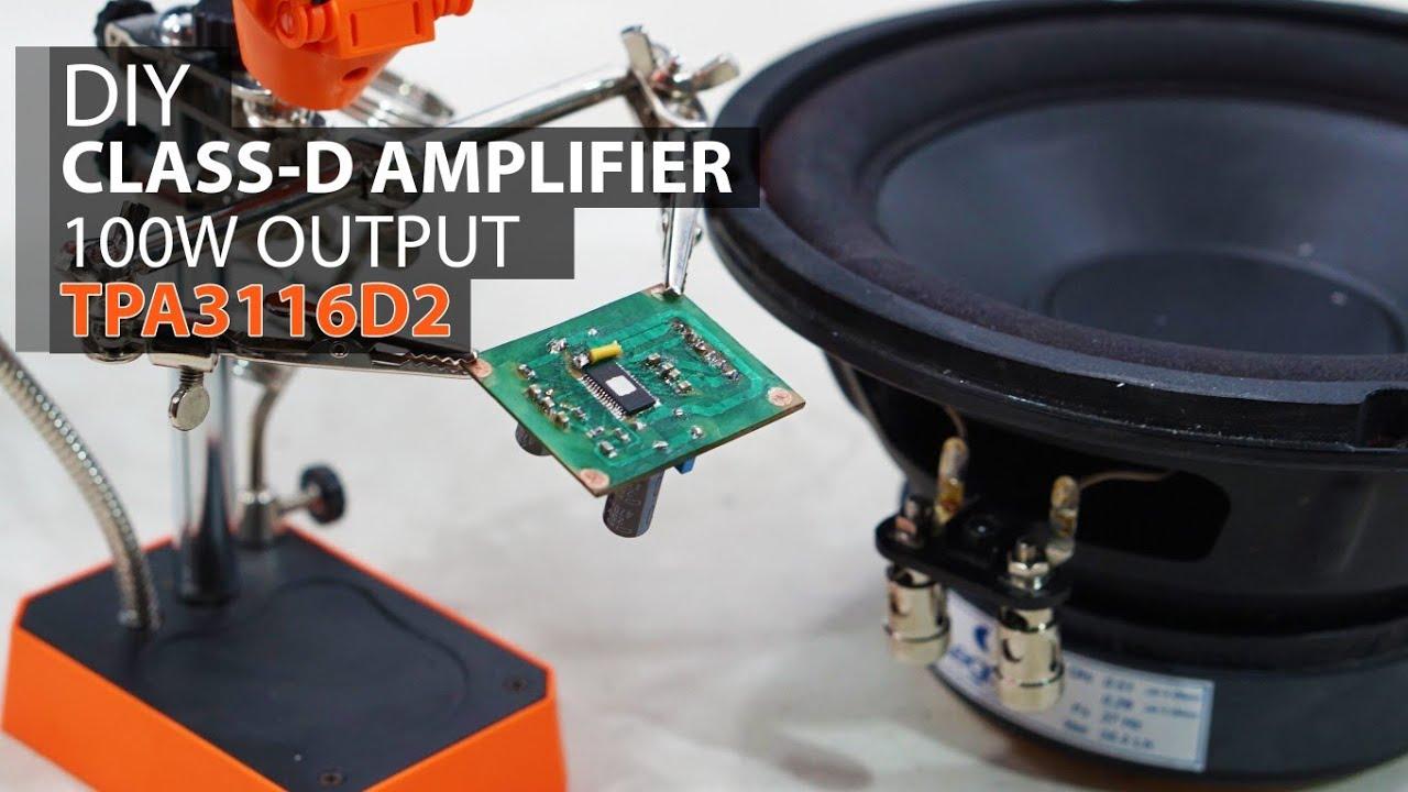 Power Ampli Mini Class D : diy test super power super mini class d amplifier tpa3116d2 pbtl youtube ~ Hamham.info Haus und Dekorationen