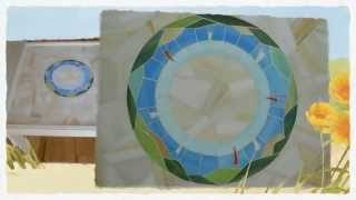 "How To Make Stained Glass Mosaic Coffee/side Table ""sea Circle 0105"""