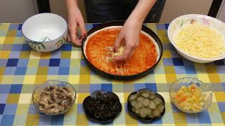 Простой Рецепт Вкусной Пиццы как в Пиццерии | ГОТОВИТЬ ЛЕГКО
