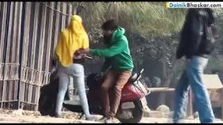 Girlfriend-Boyfriend Fighting in Park - Caught on Camera