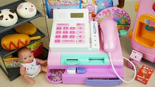 Baby Doll mini mart cash register and Refrigerator toys