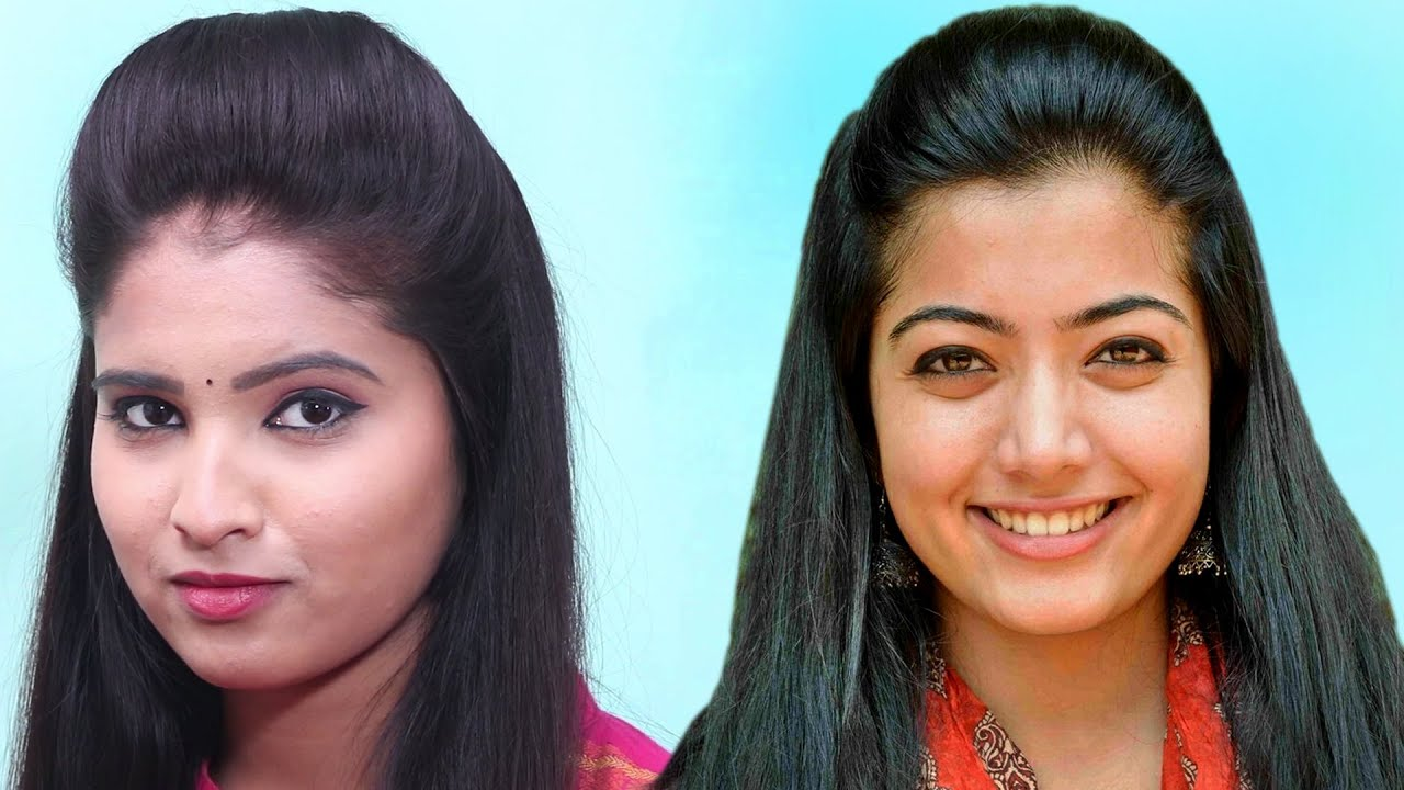 Quick, easy and attractive hairstyles // Hairstyles Inspired by Rashmika Mandanna