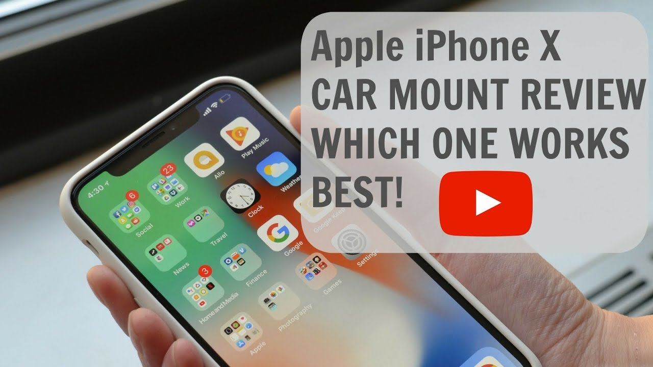 save off 0b316 bfe25 Apple iPhone X CAR MOUNT REVIEW WHICH ONE WORKS BEST!