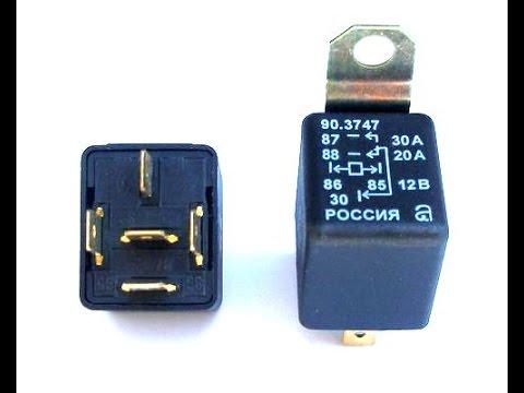 1.Как подключить 4-х контактное реле (схема) | How to connect the 4-pin relay (scheme)