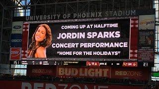 Jordin Sparks - Halftime Show @ Cardinals vs. Saints