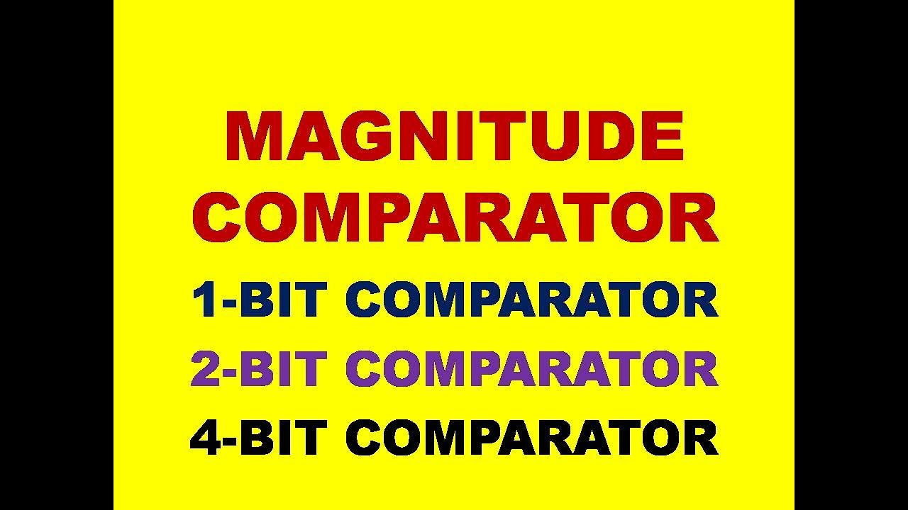 small resolution of magnitude comparator one bit and two bit comparators