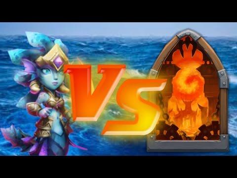 Castle Clash Siren VS Dungeons