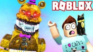 NIGHTMARE FREDBEAR EATS DENIS ALIVE! (Roblox Adventures)