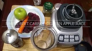 Q's Healthy Diabetic Friendly Simple Beet Carrot & Apple Juice