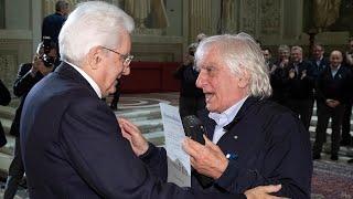 Mattarella incontra il coro dei Crodaioli con il Maestro De Marzi