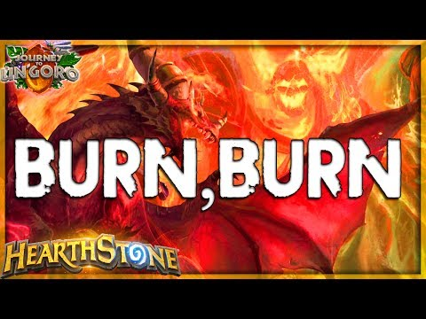HEARTHSTONE 🌟BURN BABY BURN! | CURATOR BURN MAGE Deck Tech | Ungoro Furo Legend