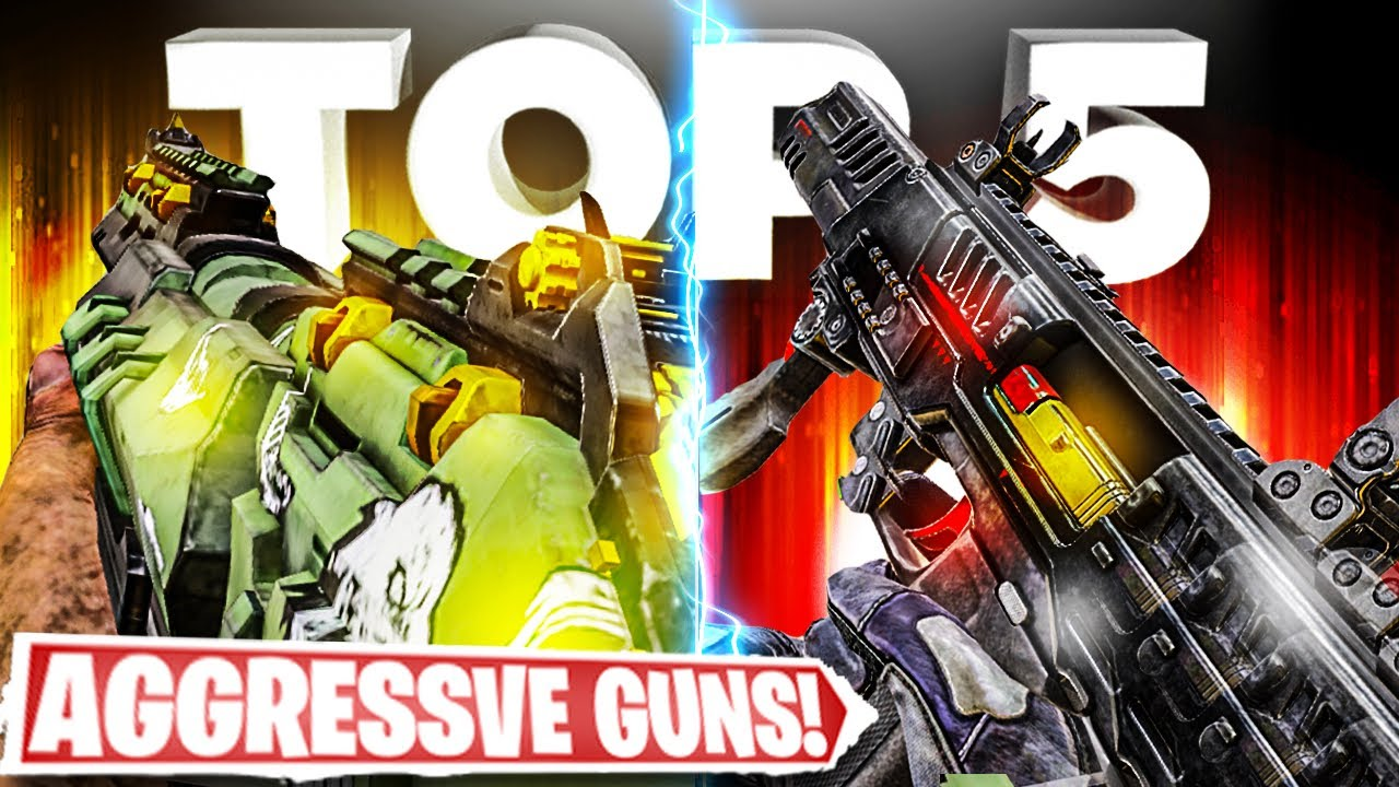 Top 5 AGGRESSIVE guns in COD Mobile