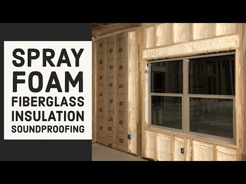 Spray Foam - Fiberglass Insulation Pole Barn House EP 17