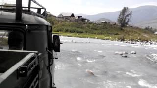 Переправа на ГАЗ-66 через р. Кучерла