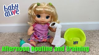 Baby Alive Afternoon Routine and Training