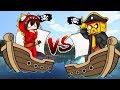 MINECRAFT: BARCO DE MIKECRACK VS BARCO DE RAPTORGAMER 😱⛵ ¡BATALLA NAVAL EN MINECRAFT!