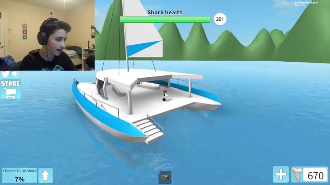 Flying Hacker In Sharkbite Roblox Youtube