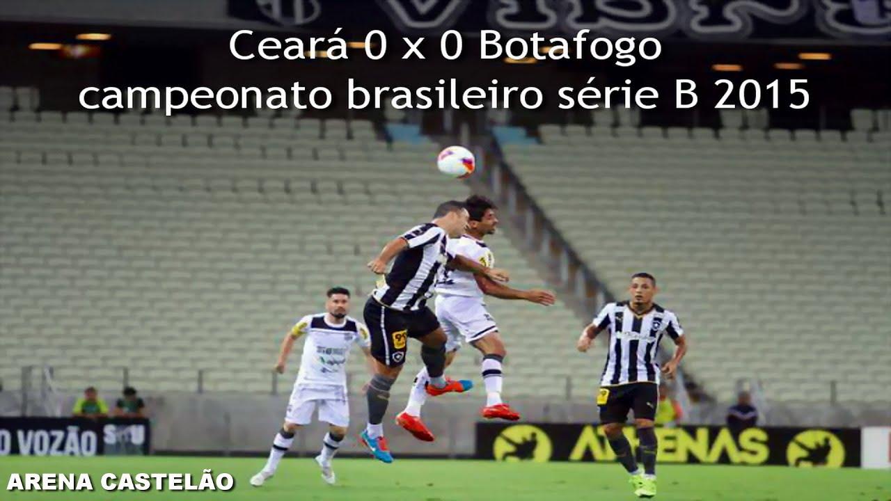 Ceará 0 x 0 Botafogo - brasileirão série B 2015 melhores momentos