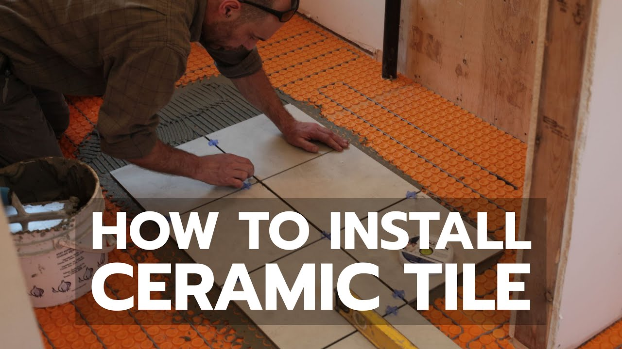 How to install ceramic tile youtube dailygadgetfo Image collections