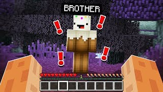 Little Brother Was *SO SCARED* When He Saw HEROBRINE in Minecraft!
