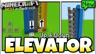 Minecraft - Elevator ( Easy Up & Down )[ Redstone Tutorial ] MCPE / Xbox / Bedrock
