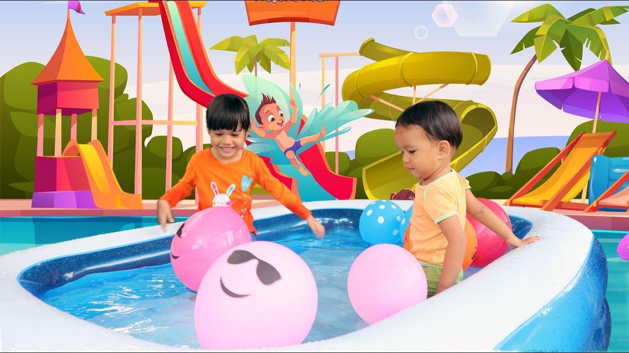 Bermain Air Dan Belajar Warna Di Kolam Kecil Penuh Balon