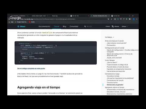 React.js - Tutorial - Tic Tac Toe - Part 2 thumbnail