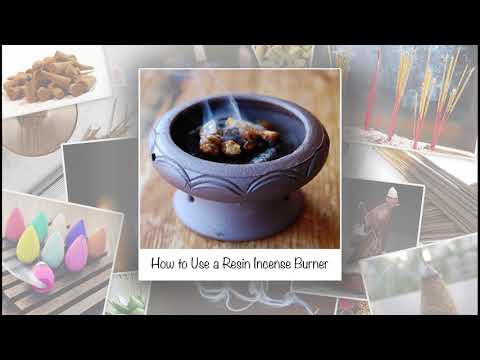 How to Use a Resin Incense Burner   HD