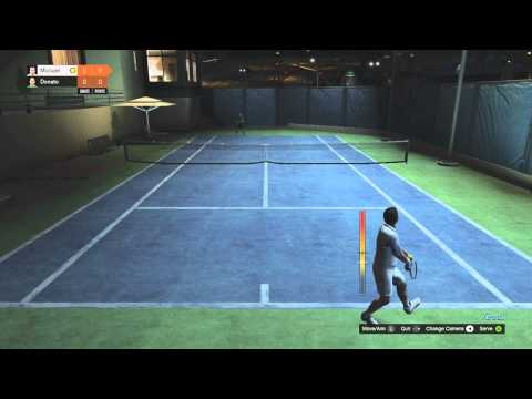 "GTA V: ""How To Win in Tennis"" & ""How to Play Tennis in Grand Theft Auto 5"" GTA 5 ""Earning Money"""