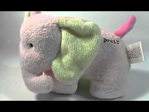Carters Just One Year Musical Elephant Baby