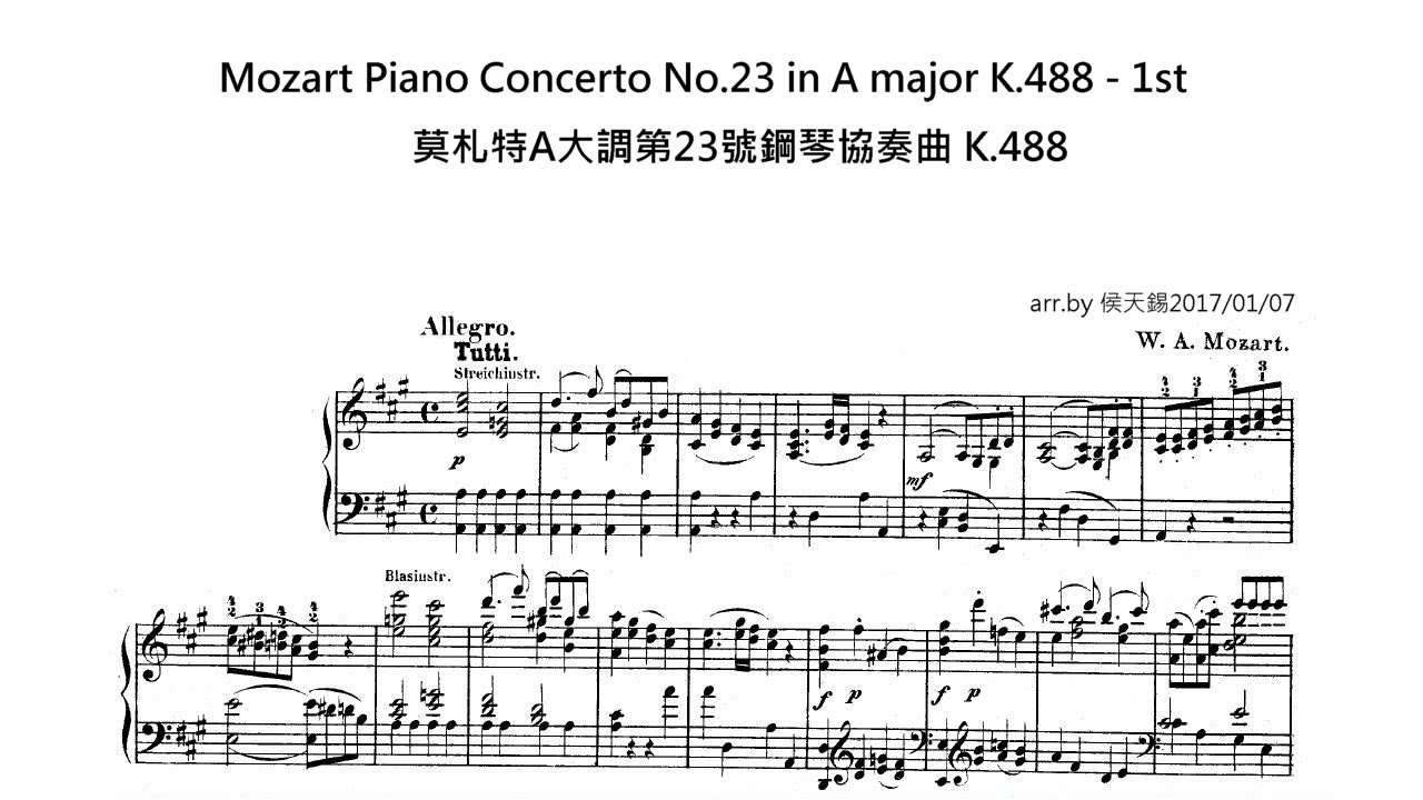 Piano concertos by Wolfgang Amadeus Mozart
