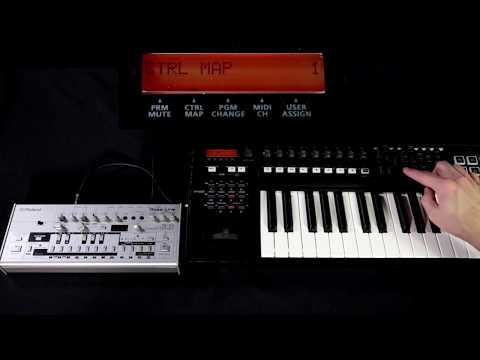 Controlling the TB-03 via MIDI using the A500Pro MIDI Controller