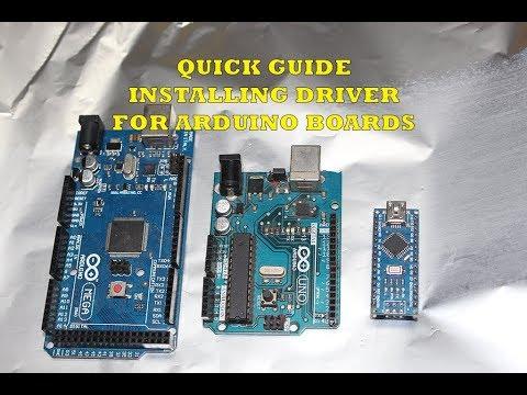 Quick guide how to install driver for arduino boards UNO/MEGA/NANO