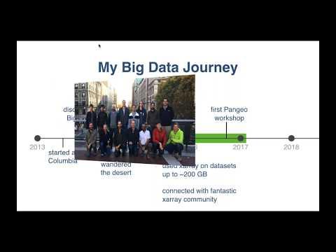 "Pangeo:  ""An open source big data science platform"", Ryan Abernathy and Matthew Rocklin"
