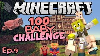 PIGS, NATURE & ROYALTY! | Minecraft 100 Baby Challenge Ep.9