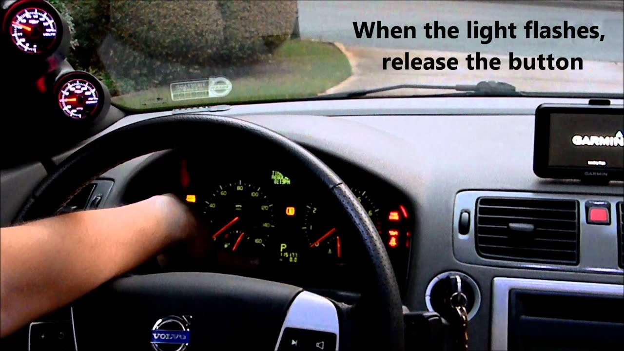 Volvo S40, How to Reset Service Indicator Light - YouTube