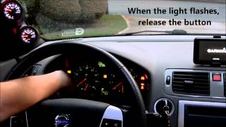 Volvo S40, How to Reset Service Indicator Light