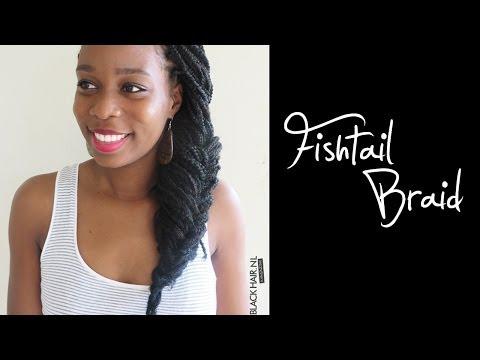 Box Braids Hairstyle - The Fishtail Braid
