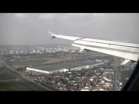British Airways A319 landing Paris Orly