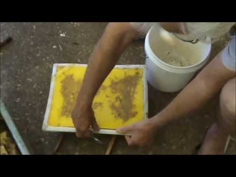 Beekeeping: Processing the Beeswax.