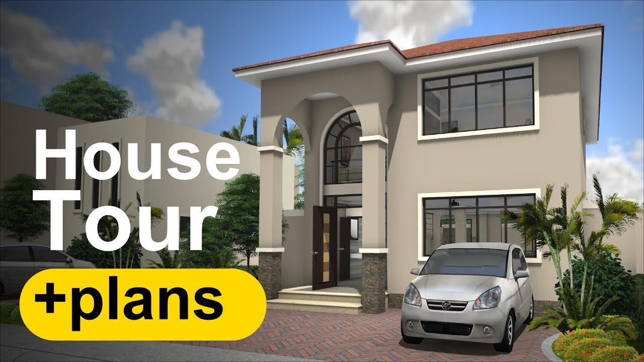 Casa modelo 1 casa tour y planos de casa youtube for Modelo de casa de 4x6
