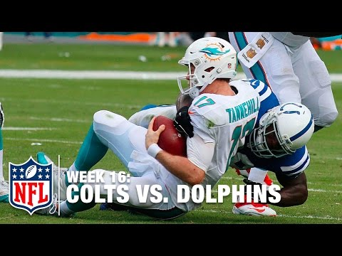 Robert Mathis Wins Game With Huge Sack On Ryan Tannehill! | Dolphins vs. Colts | NFL