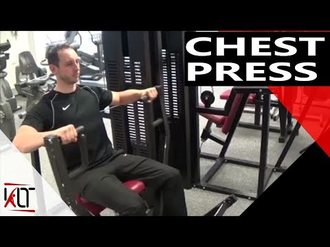 How to use the seated chest press gym machine